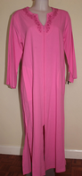 Miss Elaine Zip Dressing Gown Cotton Robe